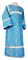 Altar server sticharion - Vologda rayon brocade S3 (blue-silver), Standard design