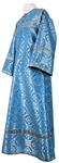 Altar server stikharion - rayon brocade S3 (blue-silver)
