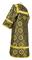 Altar server sticharion - Vologda rayon brocade S3 (black-gold) back, Standard design