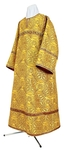 Altar server stikharion - rayon brocade S3 (yellow-claret-gold)