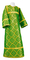 Altar server sticharion - Old-Greek rayon brocade S3 (green-gold), Standard cross design
