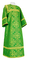 Altar server sticharion - Alania rayon brocade S3 (green-gold), Standard cross design