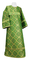Altar server sticharion - Kazan rayon brocade S3 (green-gold), Standard cross design