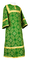 Altar server sticharion - Altaj rayon brocade S3 (green-gold), Standard cross design