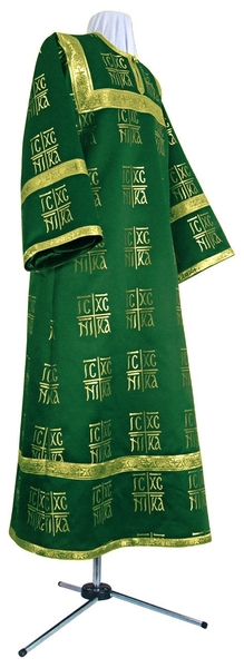 Altar server stikharion - rayon brocade S3 (green-gold)