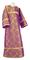 Altar server sticharion - Old-Greek rayon brocade S3 (violet-gold), Standard design