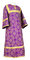 Altar server sticharion - Altaj rayon brocade S3 (violet-gold), Standard design