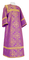 Altar server sticharion - Alania rayon brocade S3 (violet-gold), Standard design
