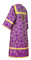 Altar server sticharion - Altaj rayon brocade S3 (violet-gold) back, Standard design