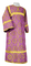 Altar server sticharion - Vologda rayon brocade S3 (violet-gold), Standard design