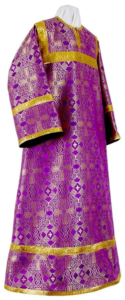 Altar server stikharion - rayon brocade S3 (violet-gold)