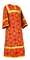 Altar server sticharion - Altaj rayon brocade S3 (red-gold), Standard design