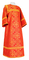 Altar server sticharion - Alania rayon brocade S3 (red-gold), Standard design
