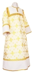 Altar server stikharion - rayon brocade S3 (white-gold)