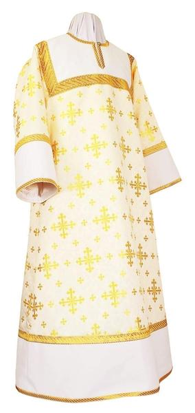 Altar server stikharion - rayon brocade S3 (white-gold)