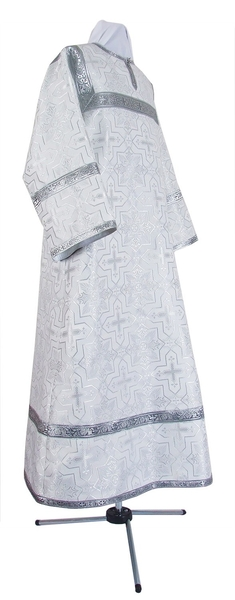 Altar server stikharion - rayon brocade S3 (white-silver)