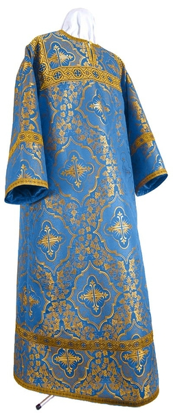 Altar server stikharion - rayon brocade S4 (blue-gold)