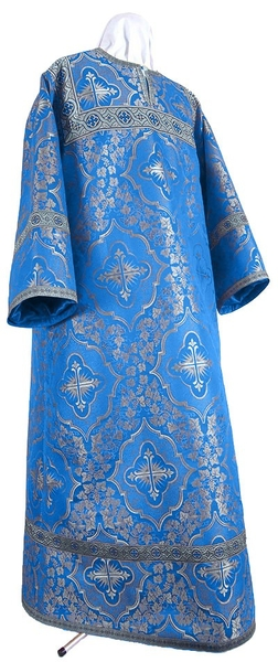 Altar server stikharion - rayon brocade S4 (blue-silver)