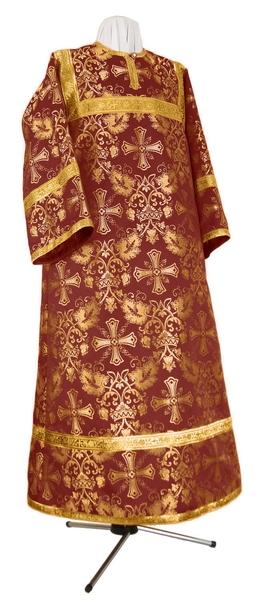 Altar server stikharion - rayon brocade S4 (claret-gold)