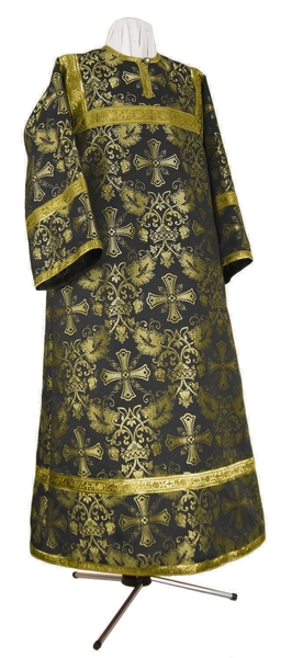 Altar server stikharion - rayon brocade S4 (black-gold)