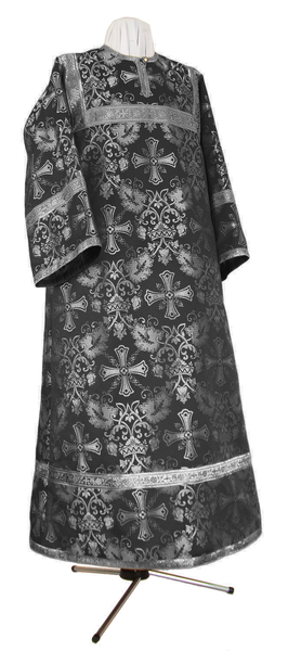 Altar server stikharion - rayon brocade S4 (black-silver)