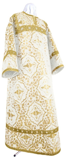 Altar server stikharion - rayon brocade S4 (white-gold)