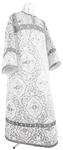 Altar server stikharion - rayon brocade S4 (white-silver)