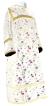 Altar server stikharion - Chinese rayon brocade (white-gold)