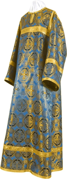Child stikharion (alb) - metallic brocade B (blue-gold)