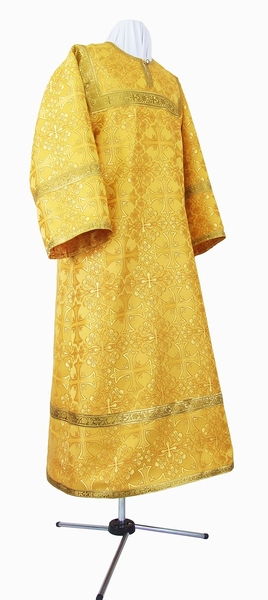 Child stikharion (alb) - metallic brocade B (yellow-claret-gold)