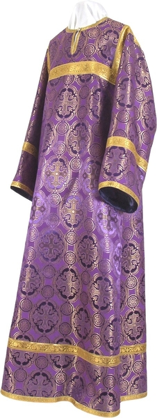 Child stikharion (alb) - metallic brocade B (violet-gold)