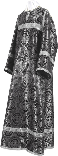 Child stikharion (alb) - metallic brocade B (black-silver)