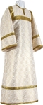 Child stikharion (alb) - metallic brocade B (white-gold)