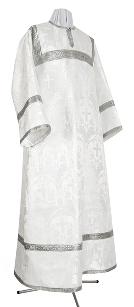 Child stikharion (alb) - metallic brocade B (white-silver)