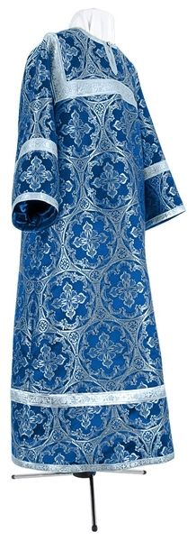Child stikharion (alb) - metallic brocade BG1 (blue-silver)