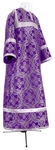Child stikharion (alb) - metallic brocade BG2 (violet-silver)
