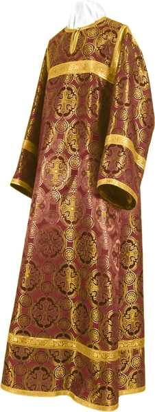 Child stikharion (alb) - metallic brocade BG3 (claret-gold)