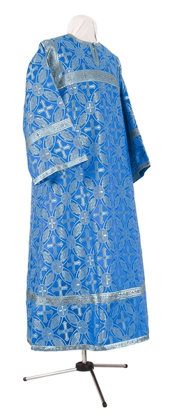 Child stikharion (alb) - rayon brocade S2 (blue-silver)