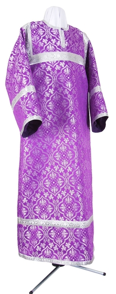 Child stikharion (alb) - rayon brocade S2 (violet-silver)