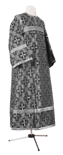 Child stikharion (alb) - rayon brocade S2 (black-silver)