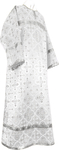 Child stikharion (alb) - rayon brocade S3 (white-silver)