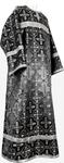Child stikharion (alb) - rayon brocade S4 (black-silver)