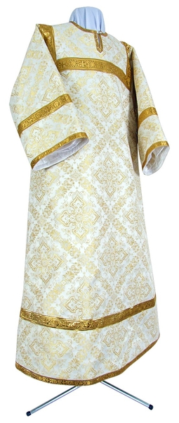 Child stikharion (alb) - rayon brocade S4 (white-gold)
