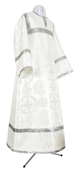 Child stikharion (alb) - rayon brocade S4 (white-silver)