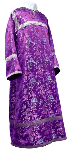 Child stikharion (alb) - rayon Chinese brocade (violet-silver)