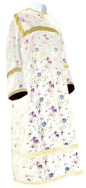 Child stikharion (alb) - rayon Chinese brocade (white-gold)