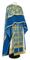 Greek Priest vestments - Pskov metallic brocade B (blue-gold) with velvet inserts, Standard design