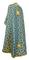 Greek Priest vestments - Cappadocia metallic brocade B (blue-gold) back, Standard design