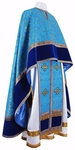 Greek Priest vestment -  metallic brocade B (blue-gold)