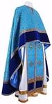Greek Priest vestment -  metallic brocade B (blue-gold)